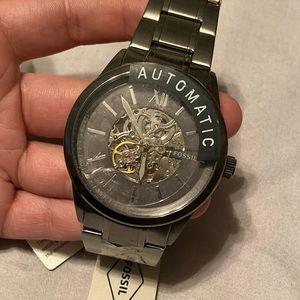 Men's Automatic gun metal fossil watch